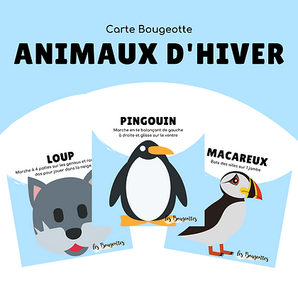 Carte Bougeotte ANIMAUX HIVER
