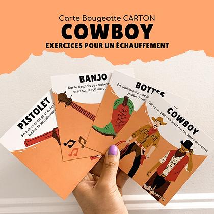 Carte Bougeotte Carton COWBOY