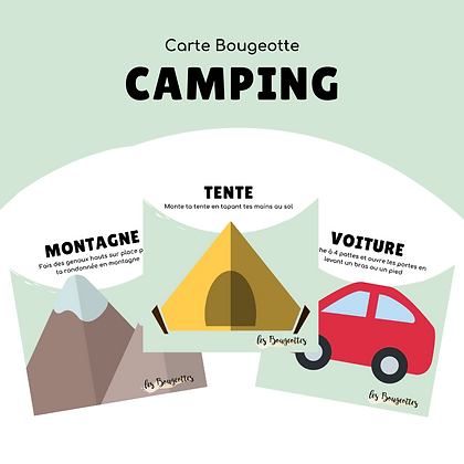 Carte Bougeotte CAMPING