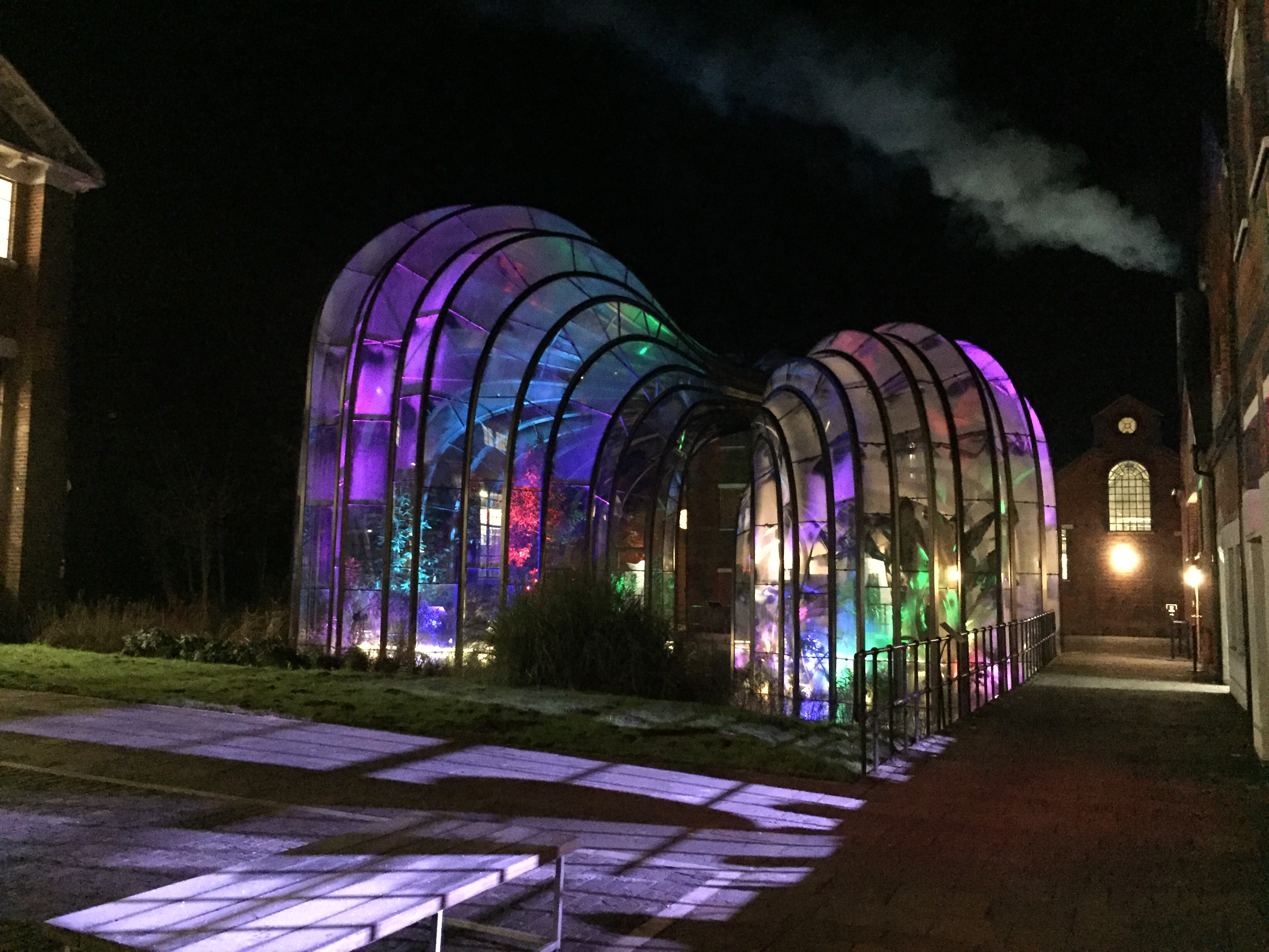 Glasshouses Lit For Private Party