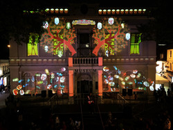 Mexican Day Of The Dead Projection