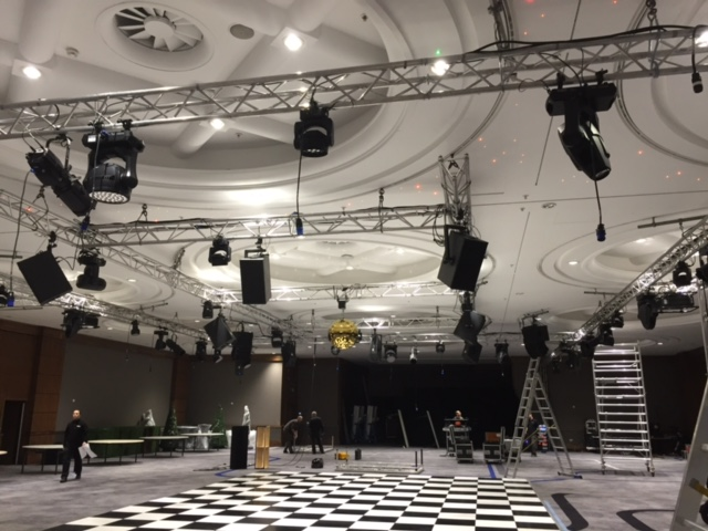 Awards Evening Event Set Up