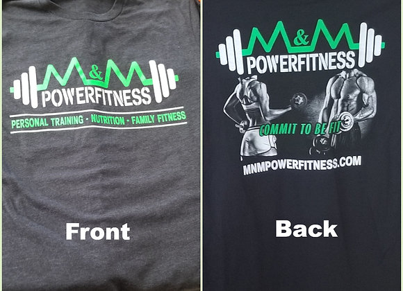 M&M Power Fitness T-Shirts- Dark Grey