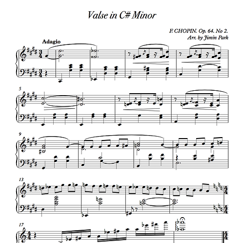 Chopin Waltz C# minor (Stride piano ver.)
