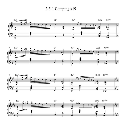 20 Jazz Piano Comping Examples