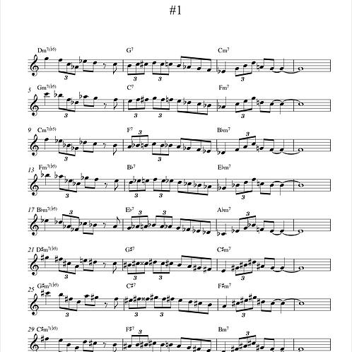 20 jazz licks in minor 2-5-1