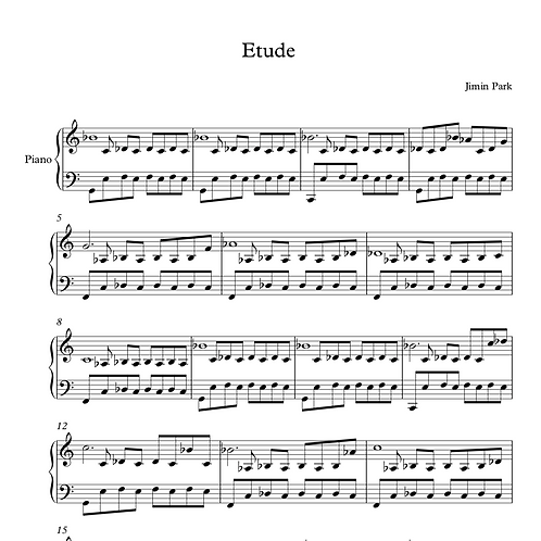 Etude for fourth and fifth fingers