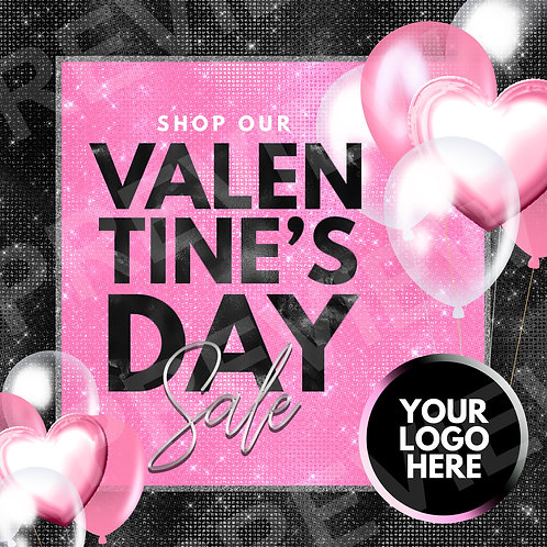 Valentine's Sale PreMade - Black