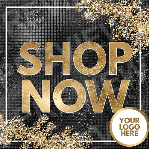 Shop Now PreMade Flyer - Black