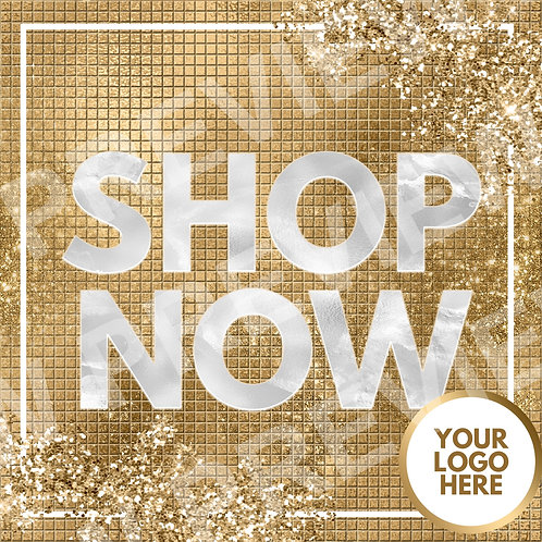 Shop Now PreMade Flyer - Gold