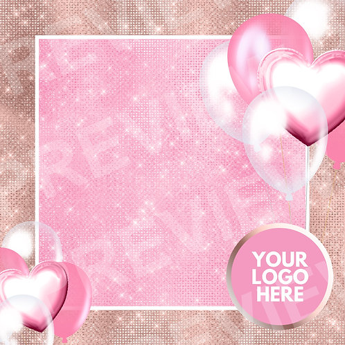 Valentine's Blank Social Template