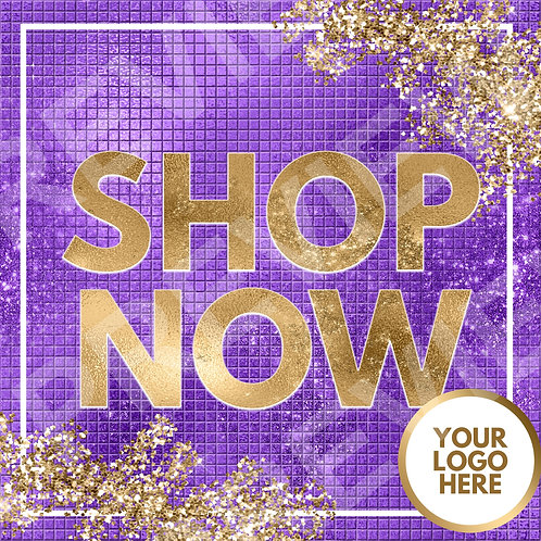 Shop Now PreMade Flyer - Purple