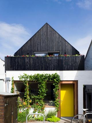 Black timber elevation