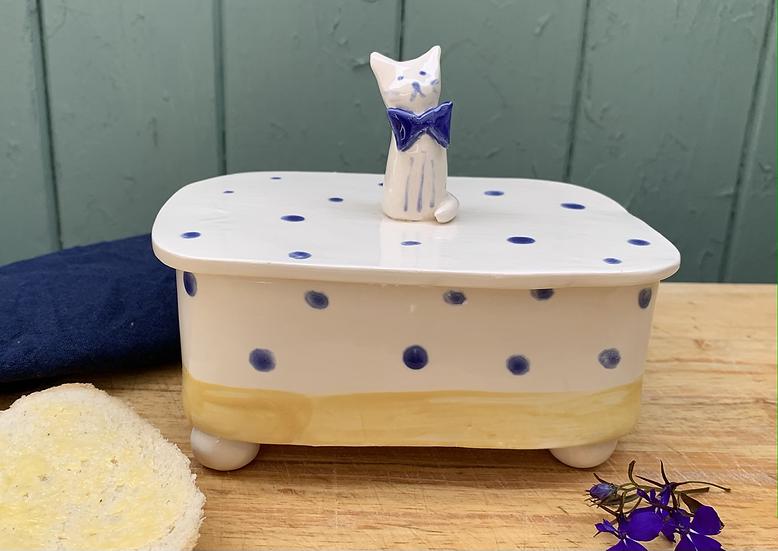 Cat Butter Dish