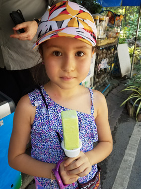 Pandan ice cream in Thailand