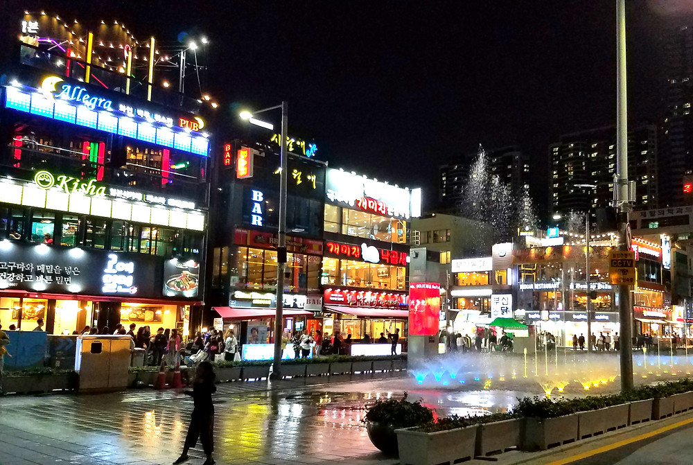 Night scene in Haeundae