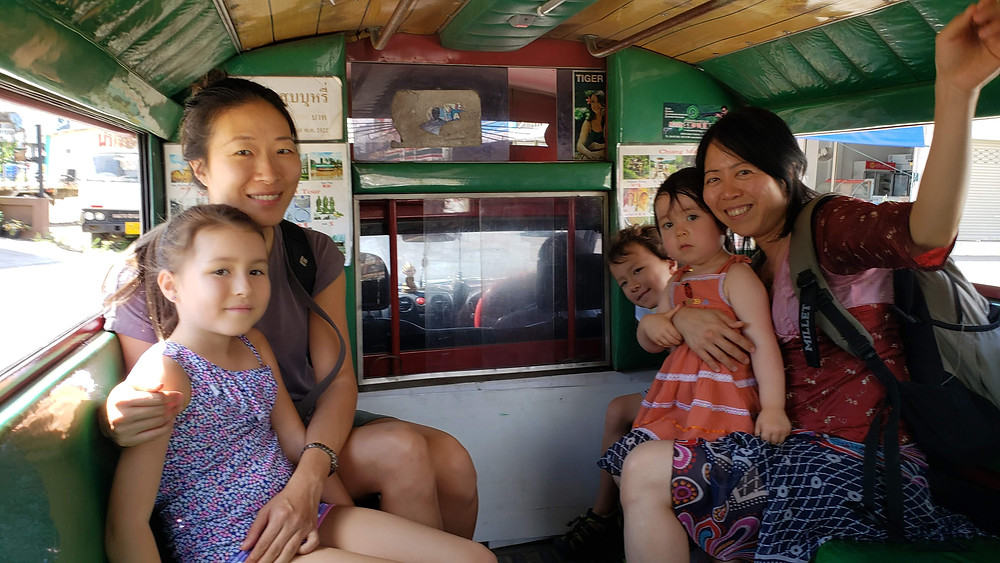 local bus travel in Thailand