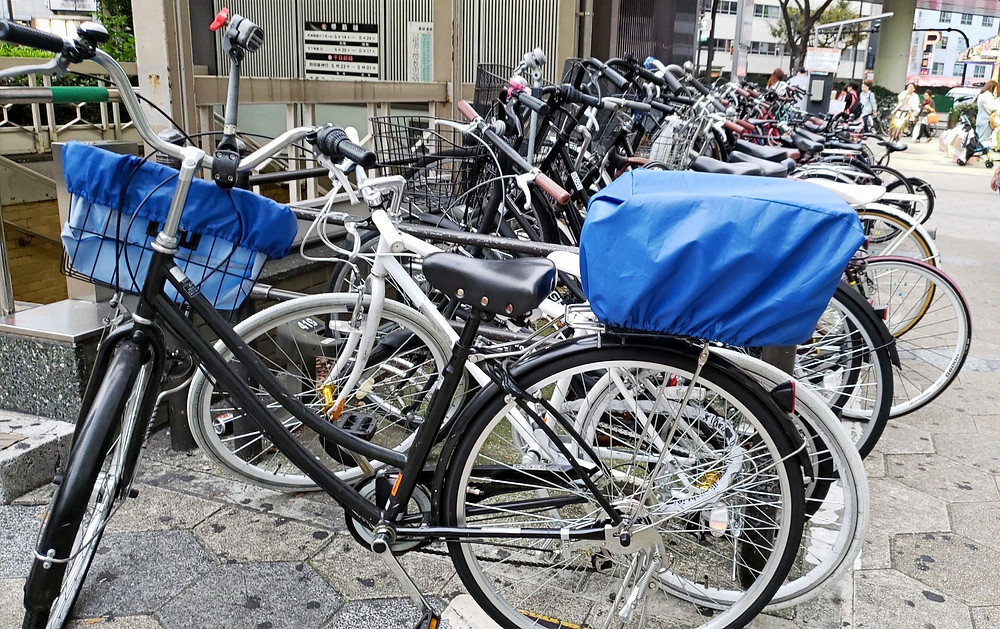 Casual cycling culture in Japan - no bike locks
