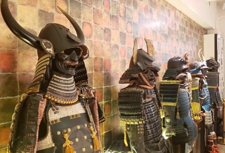 Samurai armour at Samurai Ninja Museum, Kyoto, Japan