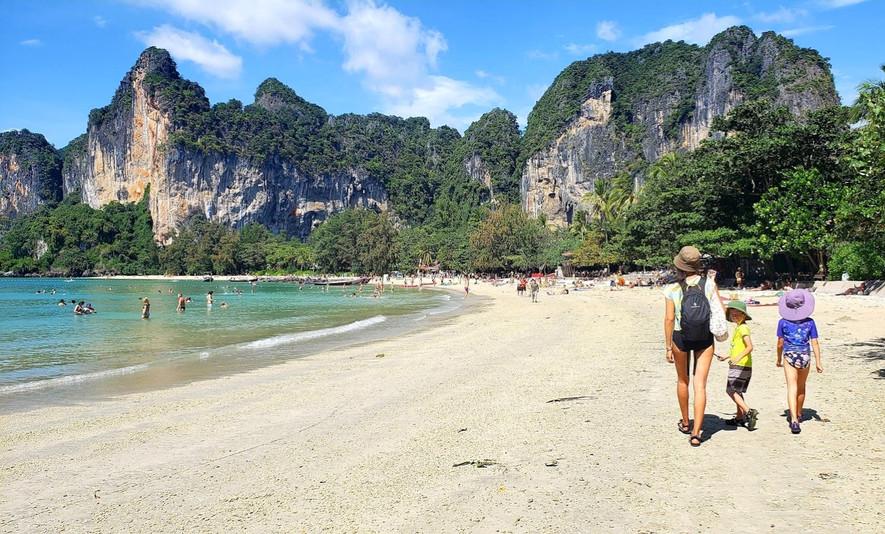 Railay Beach with kids, Krabi, Thailand