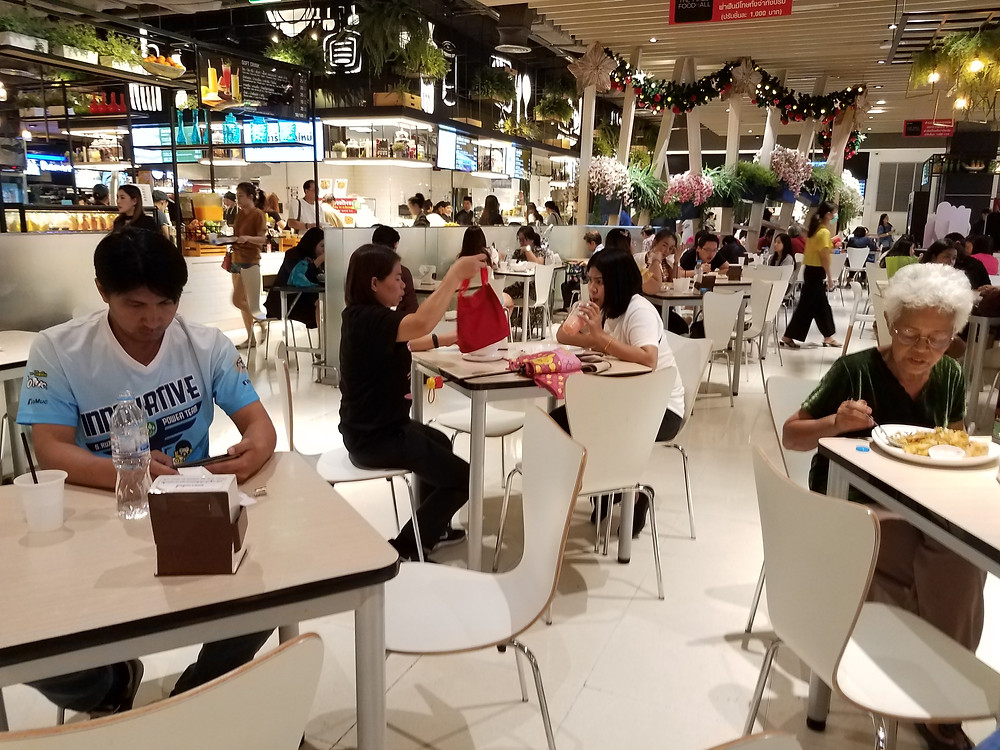 The Mall Bangkapi food court for cheap, delicious Thai food in Bangkok