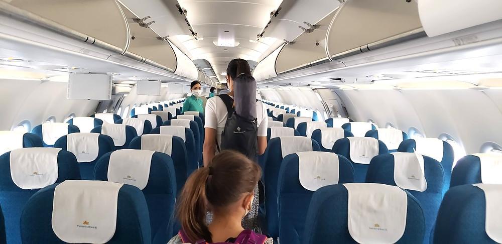 Boarding Vietnam Airlines
