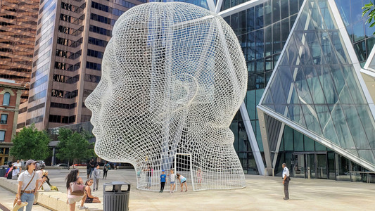 Neat city sculptures in downtown Calgary