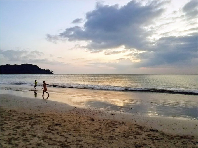 Sunset at Khlong Dao beach, Koh Lanta