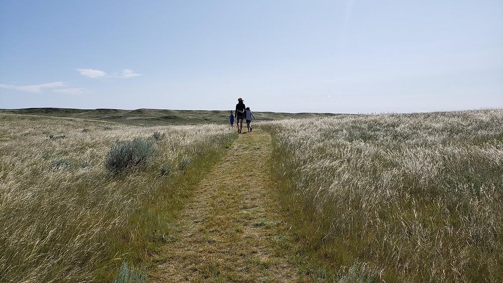 Hiking with kids in Grasslands National Park, Saskatchewan