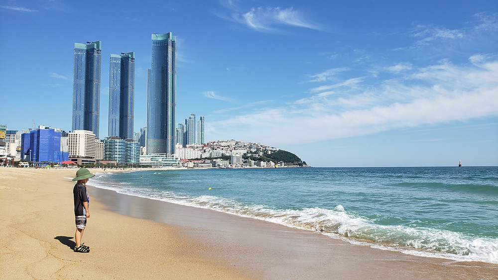 Beautiful city beach in Korea