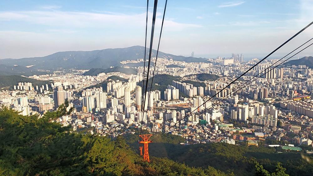 Cable car to Geumjeongsanseong