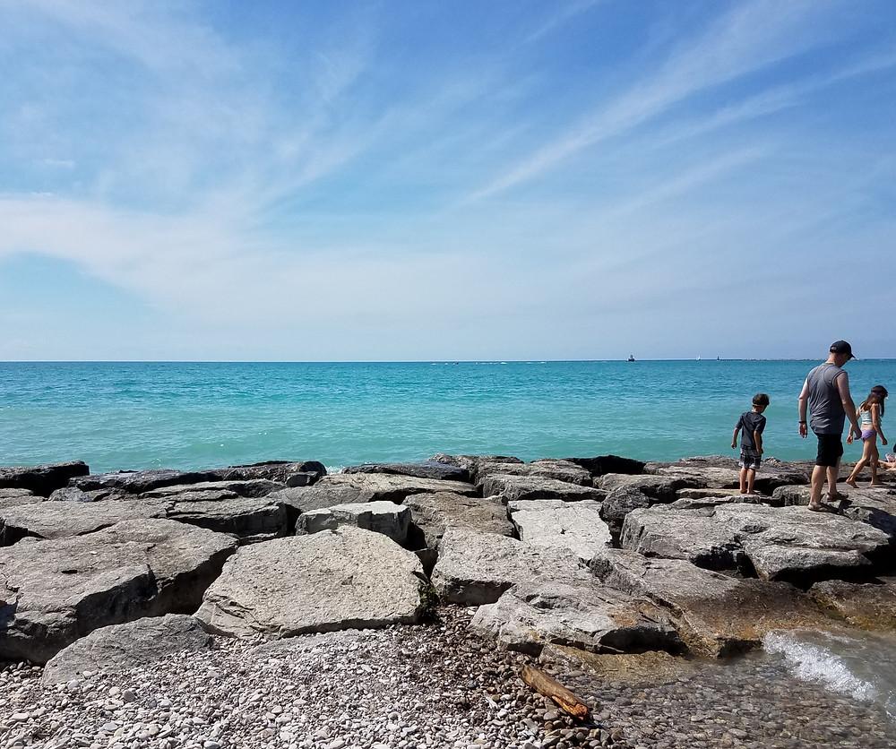 Kid friendly Lake Huron Beach, Ontario