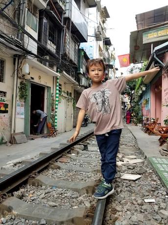 Train tracks on Train Street, Hanoi, Vietnam