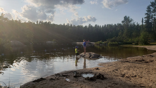Camping with kids at Rushing River Provincial Park, Ontario