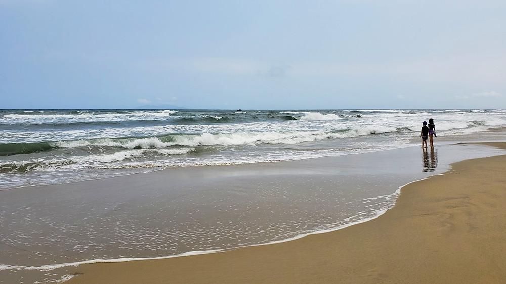 Empty beaches in Da Nang, Vietnam