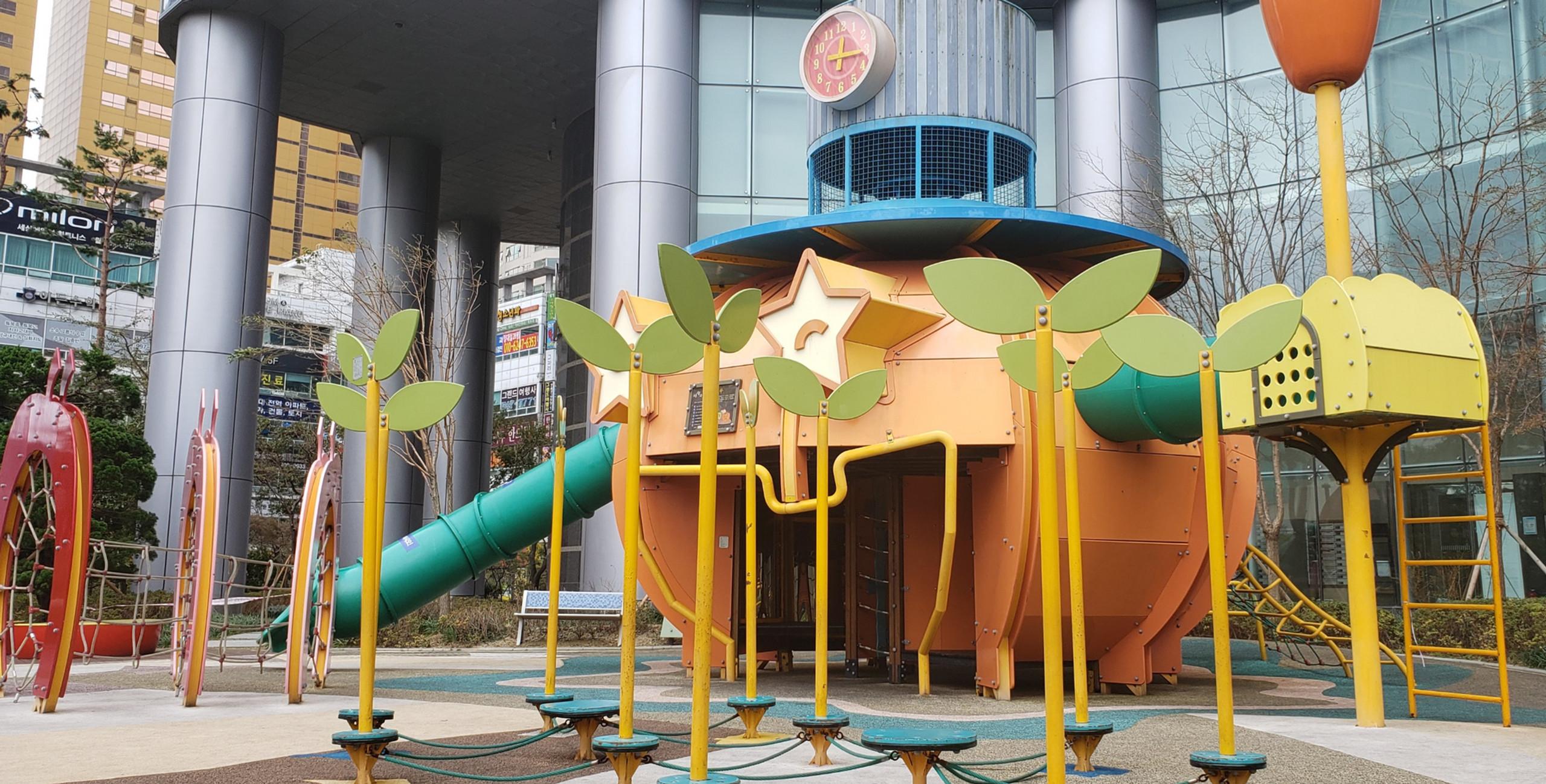 Fruit and veg themed playground