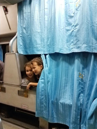 Inside the lower bunk of the night train from Trang to Bangkok