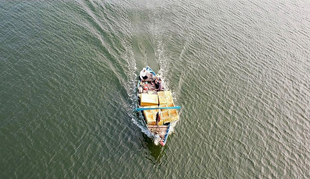 fishing boat on the ocean, Danang, Vietnam