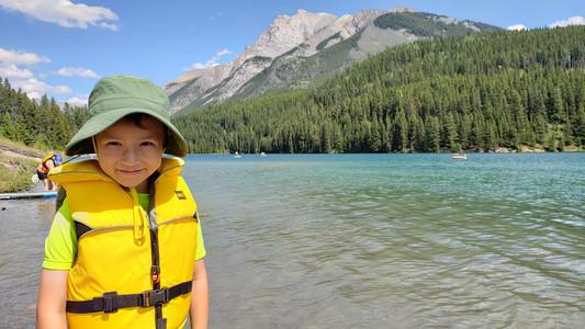 Two Jack Lake in the Rockies, near Banff, Alberta