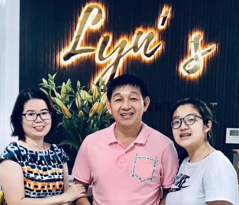 Family at Lyn's Hotel, Danang, Vietnam