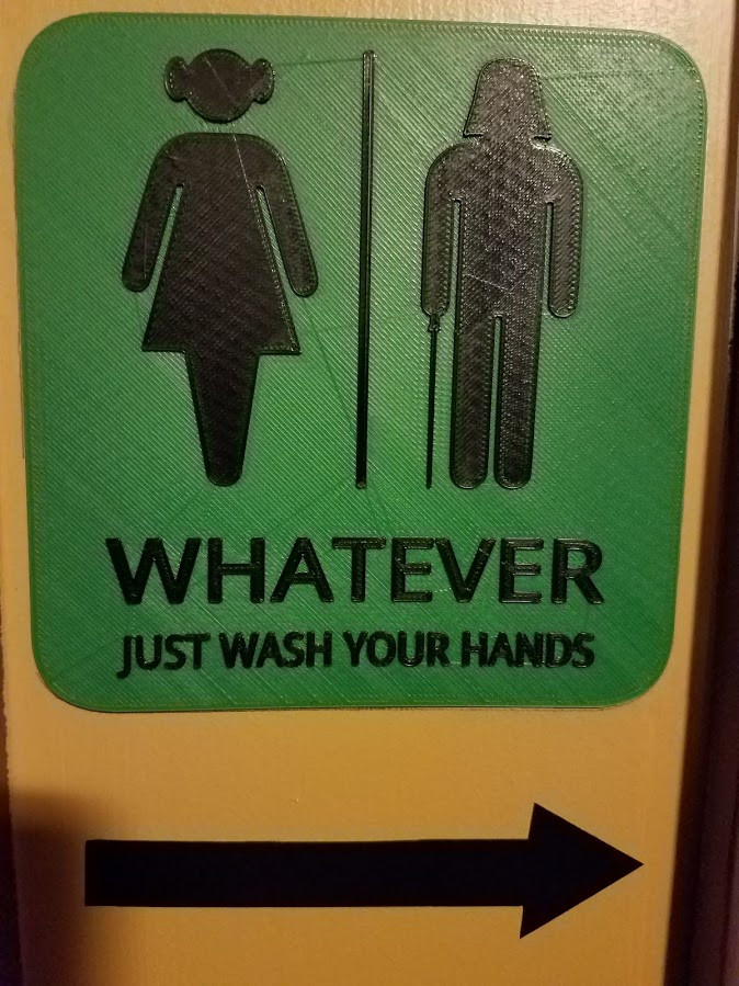 Whatever, Just Wash Your Hands, sign. Darth Vader and Princess Leia