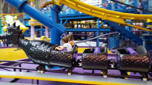 Rollercoaster at west edmonton mall