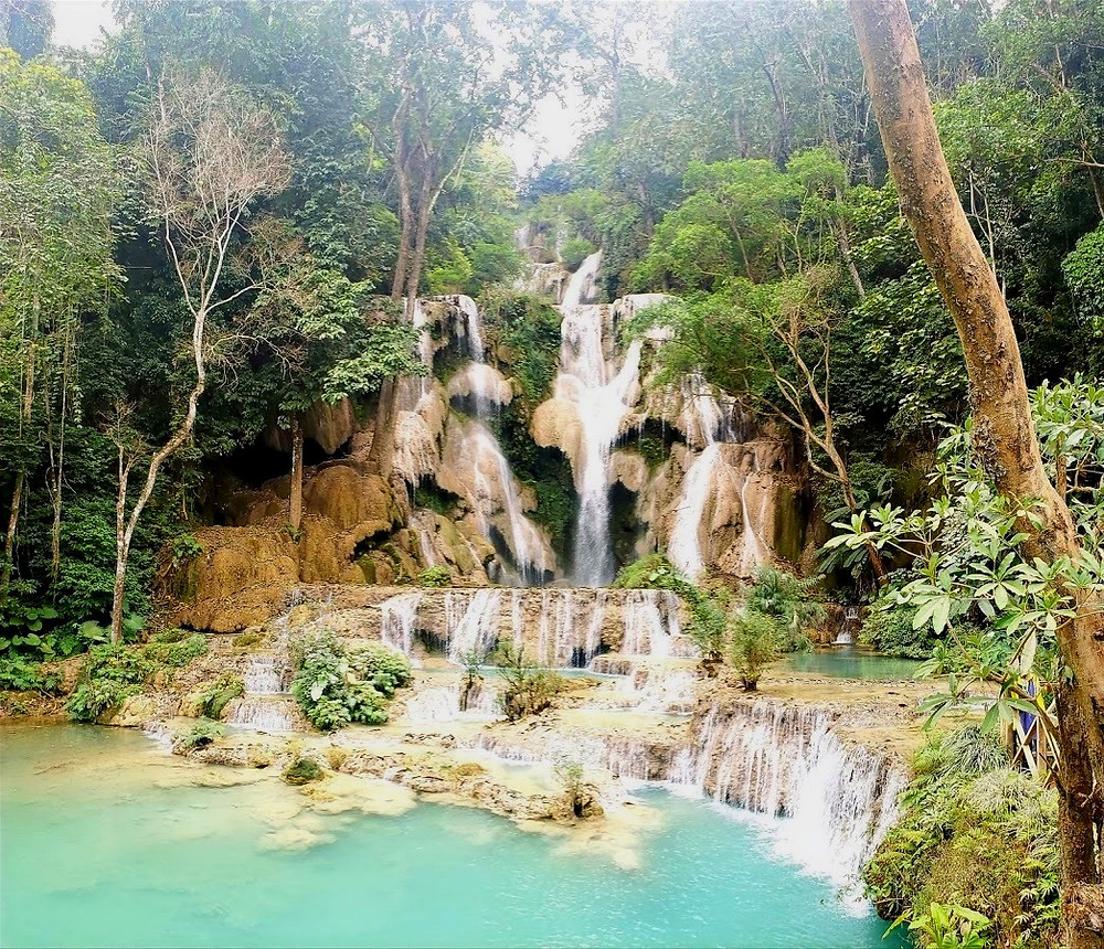 Kuang Si, main waterfall, Laos