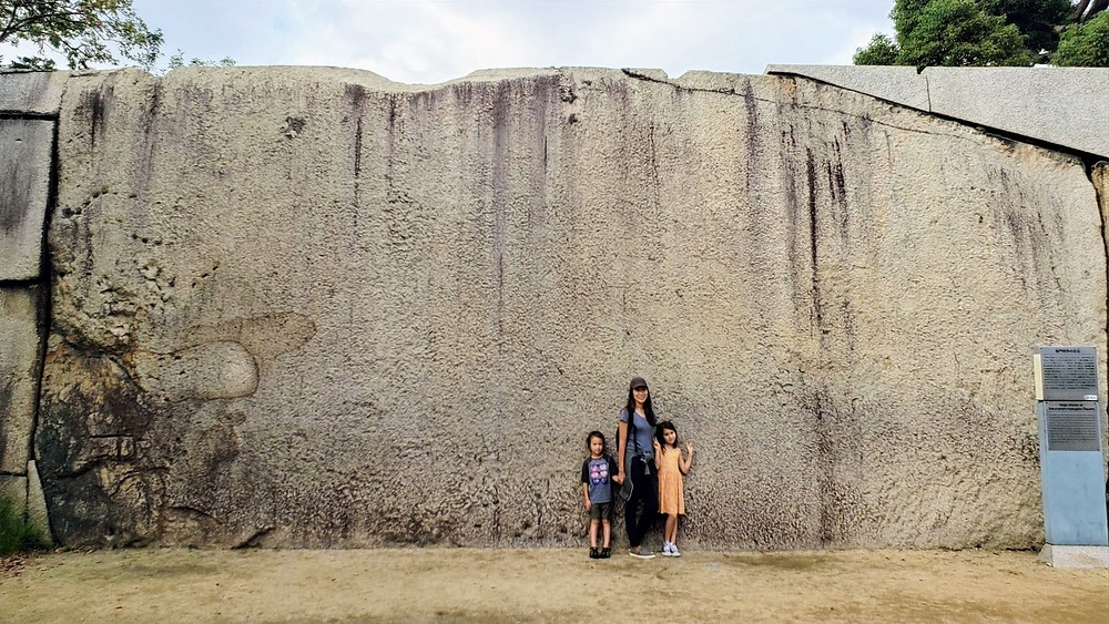 Giant stones in Osaka Castle
