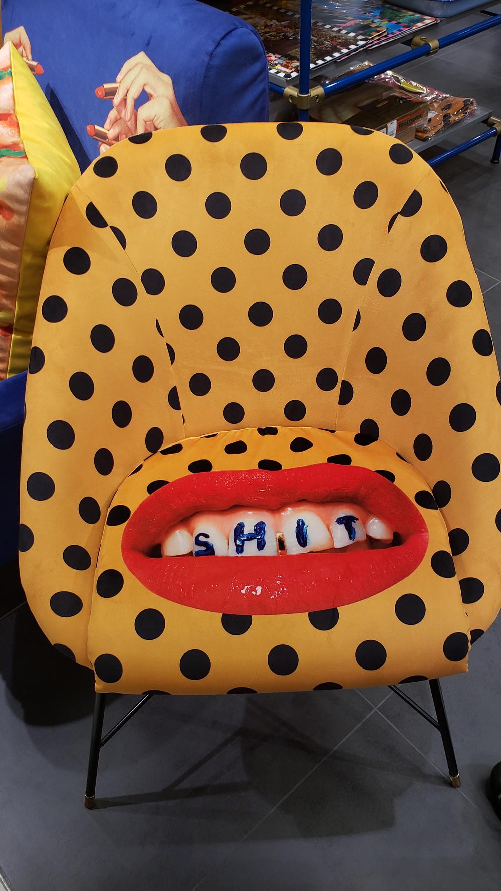 Shit chair. weird chair on Busan department store.