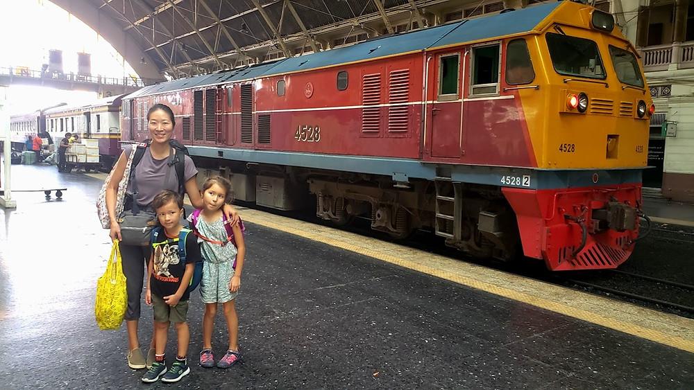 Trang to Bangkok Train at Hua Lamphong train station in Bangkok.