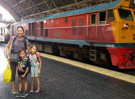 TRAIN TRAVEL in THAILAND with KIDS- From TRANG to BANGKOK