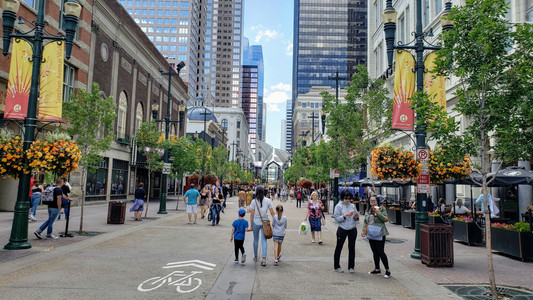 Downtown Calgary with  kids
