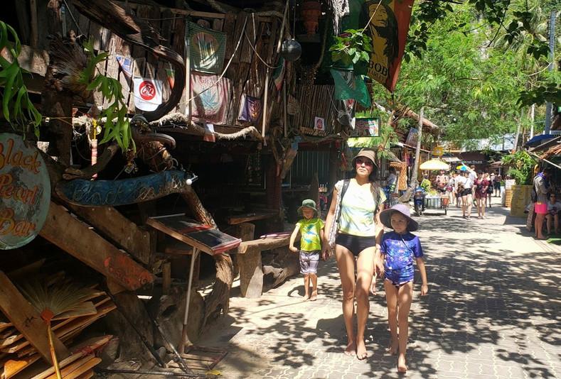 Shops by Railay Beach, Krabi, Thailand