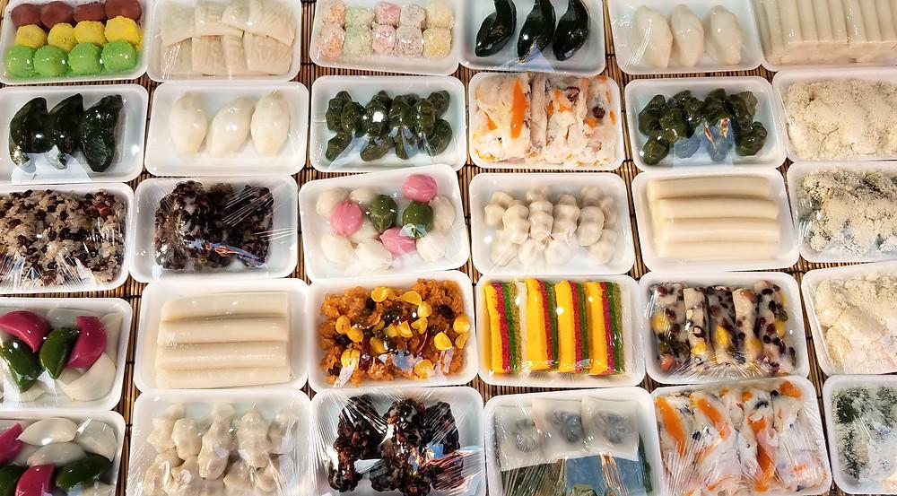 Korean sweet rice cakes